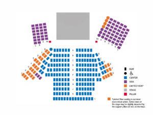 Seating Chart Capital Repertory Theatre